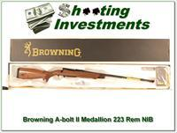 Browning A-bolt II Medallion 223 Rem last of the new ones!