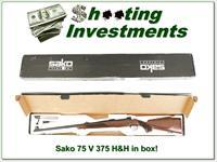 Sako 75 in 375 H&H near new in box!