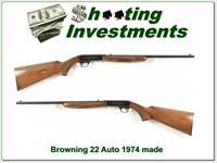 Browning 22 Auto 1974 First Year Japam made Exc Cond!