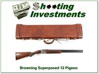 Browning Superposed 1957 Pigeon Grade Funken Engraved with case