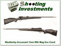 Weatherby Mark V Accumark 7mm Wthy Mag as new!