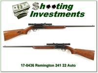 Remington 241 22 Auto with scope