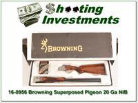 Browning Superposed 20 Gauge Pigeon Grade NIB!