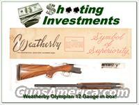 Weatherby Olympian 12 Gauge in box!