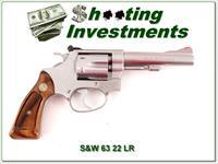 Smith & Wesson Model 63 22 LR 4in Stainless