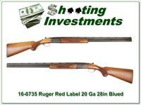 Ruger Red Label 20 Gauge 28in barrels Blued receiver