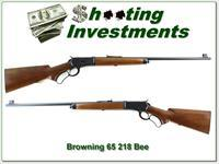 Browning Model 65 218 Bee Exc Cond!