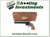 Colt Python 357 Mag 8in Blued in box!