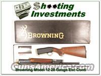 Browning Model 12 28 Gauge Exc Cond in box!