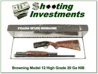 Browning Model 12 High Grade 5 20 Ga XXX NIB