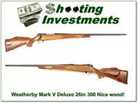 Weatherby Mark V Deluxe 300 Wthy Mag 26in Exc Cond