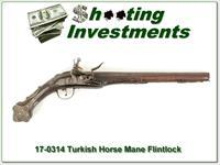 Turkish Horse Mane Flintlock Antique!