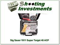 Sig Sauer 1911 SUPER TARGET Stainless 45 ACP
