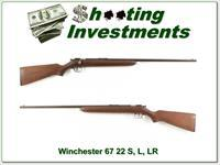 Winchester Model 67 all original single shot 22 S, L and LR