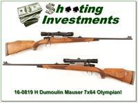 H Dumoulin High Grade FN Mauser 7x64 Browning Olympian engraved!