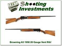 Browning A5 1958 First Year 20 Gauge Vent Rib!