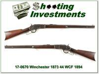 Wnchester 1873 44 WCF made in 1894 Round Barrel