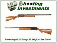 Browning A5 20 Gauge 65 Belgium Honey Blond VR!
