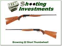 Browning 22 Auto Thumbwheel Short COLLECTOR!