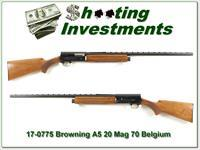 Browning A5 20 Magnum Belgium VR Modified Blond