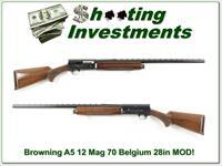 Browning A5 70 Belgium 12 Magnum rare 28in VR Mod!