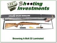 Browning A-Bolt 22LR RARE Laminated ANIB!