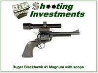 Ruger Blackhawk New Model 41 Rem Mag 6.5in Bushnell