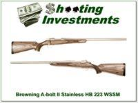Browning A-bolt II Laminated Stainless HB 223 WSSM!