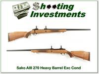 Sako AIII 270 Winchester with Rare heavy target barrel