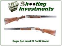Ruger Red Label 20 Gauge XX Wood 26in Exc Cond