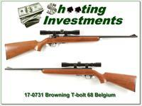 Browning Belgium T-bolt with scope Exc Cond!