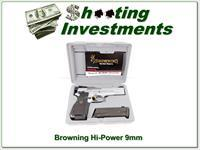 Browning Hi-Power 9mm Silver in case