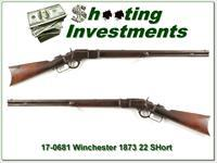 Winchester 1873 in rare 22 short made in 1890