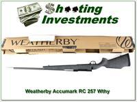 Weatherby Mark V Accumark RC 257 Wthy factory new