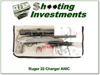 Ruger 22 Charger target pistol with bi-pod and scope