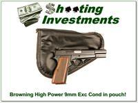 Browning High Power 9mm Top Condition in Browning Pouch!