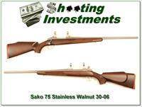 Sako 75 IV Stainless with Walnut 30-06 Exc Cond!