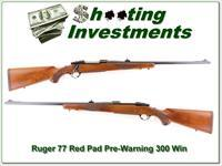 Ruger 77 Red Pad early pre-warning 300 Win
