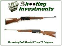 Browning BAR Grade II 73 Belgium 7mm Exc Cond!