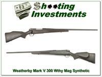 Weatherby Mark V Stynthetic 300 Wthy Mag Exc Cond