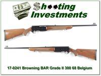 Browning BAR Grade II 300 Win 68 Belgium looks unfired!