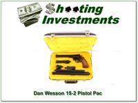 Dan Wesson 15-2 357 Magnum Pistol Pack 6 barrel set in case!