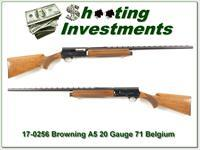 Browning A5 20 Gauge 71 Belgium Vent Rib as new