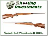Weatherby Mark V Varmintmaster 26in 22-250!