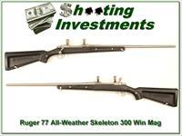 "Ruger Mark II Stainless All-weather ""Skeleton"" 300 Exc Cond"