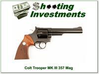 Colt Trooper MK III 6 in 357 Exc Cond!
