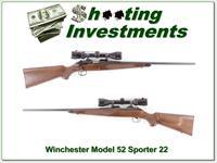 Winchester Model 52 Sporter with 3-9 scope