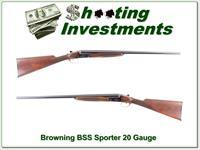 Browning BSS Sporter 20 Gauge as new unfired!