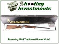 Browning 1885 Traditional Hunter in 45 LC NIB