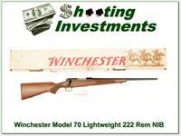 Winchester Model 70 Lightweight 222 Remington NIB!